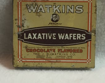J.R. Watkins Chocolate Flavored Laxative Wafers Tin (#036)