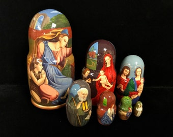 Large Wooden Russian Nesting Dolls
