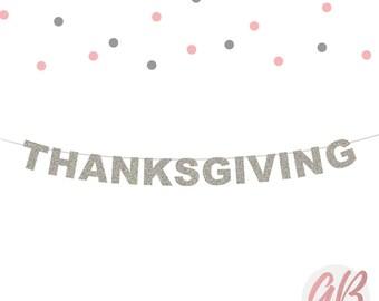 Thanksgiving banner   Thanksgiving decor   Glitter banner   Fall banner   Autumn decor   Fall garland   Holiday decor   Holiday garland