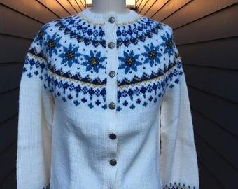 Vintage Norwegian Sweater // Vintage Wool Sweater // Vintage Fair Isle Sweater