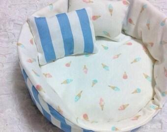 Ice cream Cuddle cup/pet bed/guinea pig/hedgehog bed/hedgehog cuddle cup/cuddle cup/guinea pig bed