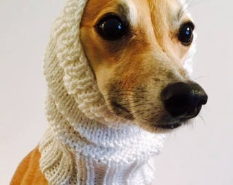 Dog Snood, Neck Warmer, Small, Italian Greyhound, Iggie, Ear Warmer, Neck Scarf, Dog Clothing, Knitted Snood, Snood, Dog Clothes