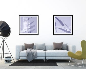Staircase Wall Decor, Digital Prints, Architectural, Photography, Double Exposure, Office Decor, Dorm Decor