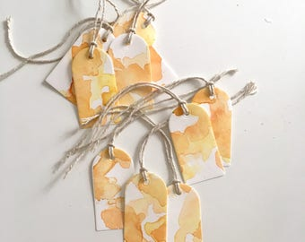 Orange Watercolor Gift Tags