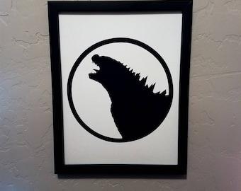 Godzilla (Toho)   Papercut Silhouette