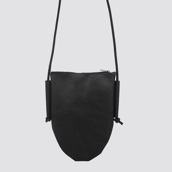 EGGBAG Handbag made of artificial leather red black brown Crossover bag