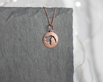 Dog Lover Necklace | Dog & Cat Necklace | Animal Lover Necklace | Rose Gold Animal Necklace | Cat Dog Lover |