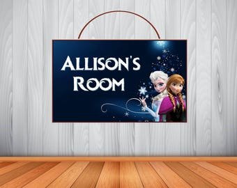 Personalized Disney Frozen Word Art Sign, Disney Frozen Personalized Wooden Name Sign, Disney Frozen Room Decor, Disney Frozen Birthday
