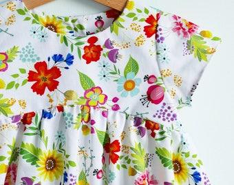 MEADOW dress, Easter dress, spring dress, summer dress, cotton dress, floral dress, girl's dress, toddler dress, sweet dress