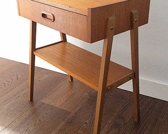 Danish night table. Teka
