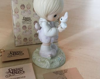 Vintage Precious MomentsWishing You A Happy Easter Figurine 109886