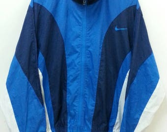 Vintage NIKE Windbreaker //Zip Pocket//Color Block//Size Men's M