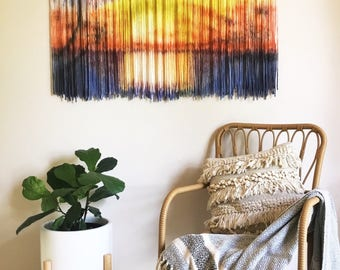 TEQUILA Tapestry/ Wall Art/ Fiber Fibre Art/ Wall Hanging/ Modern Macrame/ Handmade/ Wall Decor/ Large Abstract Art/ Moving Textured Can