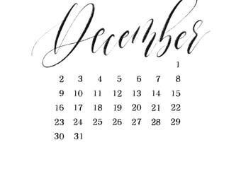 2018 Printable Calendar | Monthly Calendar | Download and print
