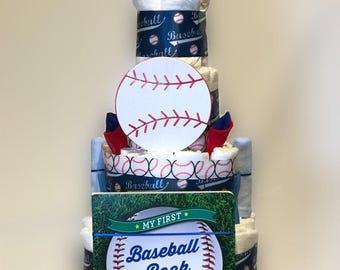 Baseball Diaper Cake
