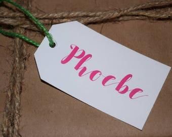 Custom Name Gift Tags