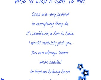 Like a Son Birthday Card