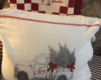 "Chesilhurst Farm Holiday Joy Pillow Covers -18""x18"" - 16 x 26 - Standard 20""x 26""- Farmacy Home -Chesilhurst Farm"