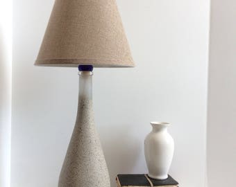 Table lamp, Accent lamp, Painted Stone table Lamp, Tall Table Lamp, home decor, reading light, Rustic Lamp, country style lamp
