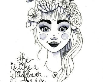 Print - Like a Wildflower