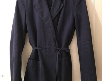 Maison Margiela MM6 vintage women blue cotton blazer jacket