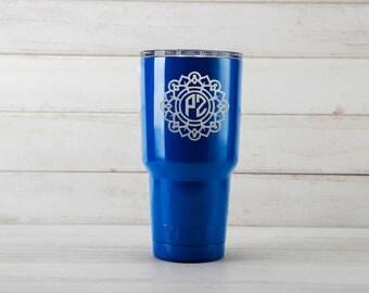 Yeti Tumblers Engraved With Mandala Personalized Yeti Tumblers 20 oz Mandala Yeti Gift For Men Mandala Yeti Rambler 30 oz Gift
