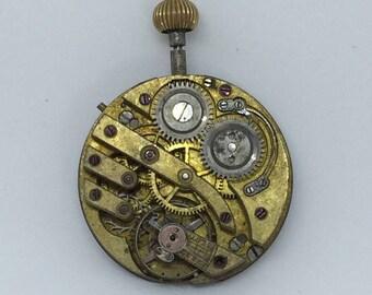 Steampunk brass vintage watch movement