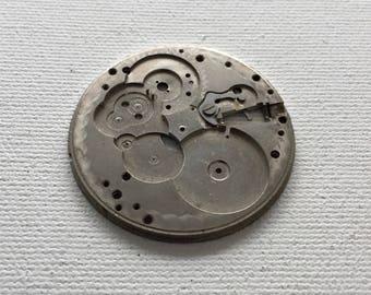 Vintage Steampunk pocket watch base plate