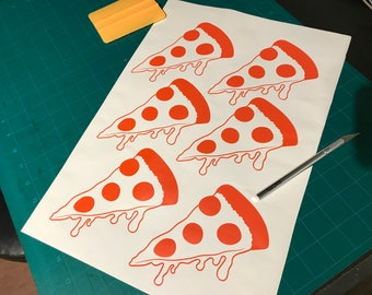 Cheesy Pizza Decal (available in every color)
