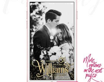 Wedding Snapchat Geofilter, Custom Geofilter, Wedding Filter, Wedding Snapchat Filter, Custom Wedding Filter, Custom Geofilter, Sparkling