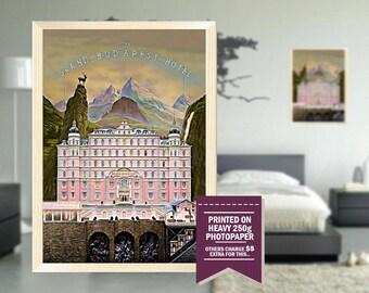 Budapest Hotel poster, fan art, budapest hotel print, grand budapest hotel, digital design, cool GIFTS, the grand hotel, Budapest Hotel art
