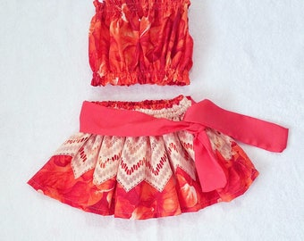 Fall  Moana inspired outfit, baby/toddler luau hula outfit,moana costume, birthday girl luau outfit,halloween costume ,
