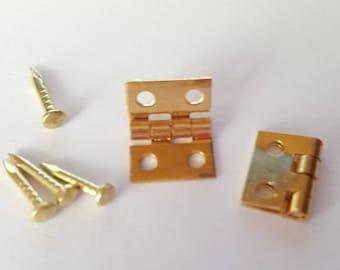 Mini gold Metal hinge