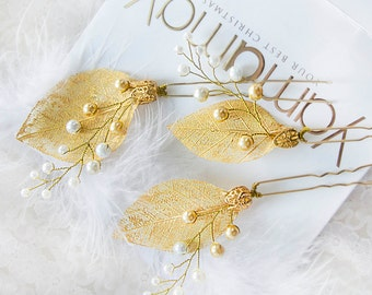 Wedding hair pins Hair vine Pins Bridal hair Pins Hair pins Bridal headpiece Bridal hairpiece Wedding hair Leaves hair pins