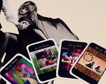 Fleetwood Mac Tarot Deck - tarot card set, tarot card deck, Stevie Nicks art, Stevie Nicks gift by kissmytarot on Etsy