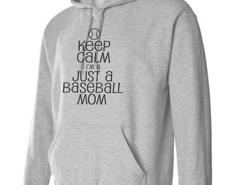 Baseball Mom Keep Calm Hoodie-Custom Black Keep Calm... design