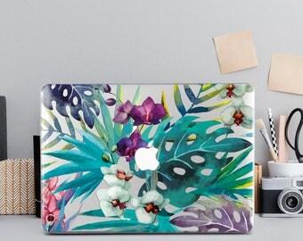 Floral MacBook Case Marble Laptop Case Flowers Macbook Pro Retina 15 Hard Case Macbook 12 Case Hard Air 13 Tropical Case Macbook Air 11 Case