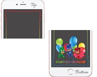 Birthday Snapchat Filter, PJ Mask Geofilter, Children's Birthday, Cute Snapchat Filter, Custom Snapchat Geofilter, Disney Junior Filter