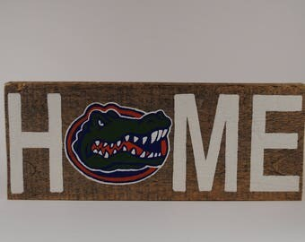 "Florida Gator ""Home"" Sign