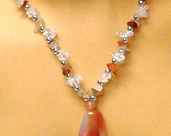 Carnelian & Crystal Quartz Jewelry