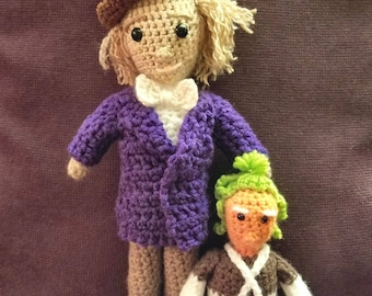 crAFty Characters: Willy Wonka and Oompa Loompa doll, the Roald Dahl Classic Children's Books, Baby Nursery Collection