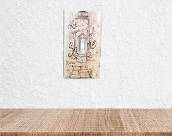 Nautical light switch cover - Lighthouse decor - Bible Verse switch plate cover - Scripture Wall art - Scripture art - rustic light switch
