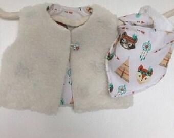 Shepherd vest - little Fox - size 12 months