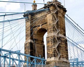 Cincinnati Art Photography Wall Art Gift for Her Art Print Wall Decor Prints Gift for Him Photo Office Decor Suspension Bridge