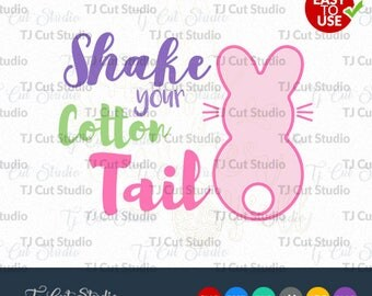 Shake Your Cotton Tail SVG, Happy Easter Svg, easter svg, Cotton Tail Svg Files for Silhouette Cameo or Cricut Commercial & Personal Use.