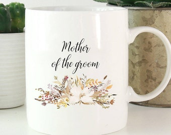 Mother of the groom mug, mother of the groom gift, wedding gift, mother in law gift, personalized mug, personalized wedding gift, coffee mug