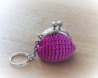 Vintage little purse key ring, key chain