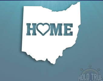 Ohio Decal - PICK COLOR and SIZE - Ohio Home Decal - Oh Decal - Ohio Car Decal - Ohio sticker - Ohio Window Decal - Ohio Car Sticker - Ohio