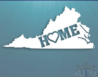 Virginia Decal - PICK COLOR and SIZE - Virginia Home Decal - Va Decal - Virginia Car Decal - Virginia sticker - Virginia