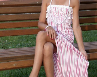 Pink lines short dress 70% discount (old price 100USD)